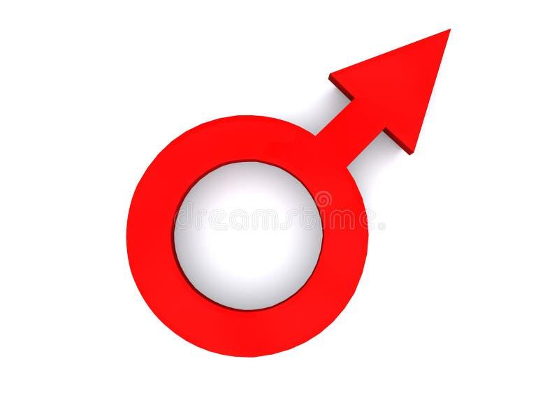 Het symbool van het geslacht stock illustratie