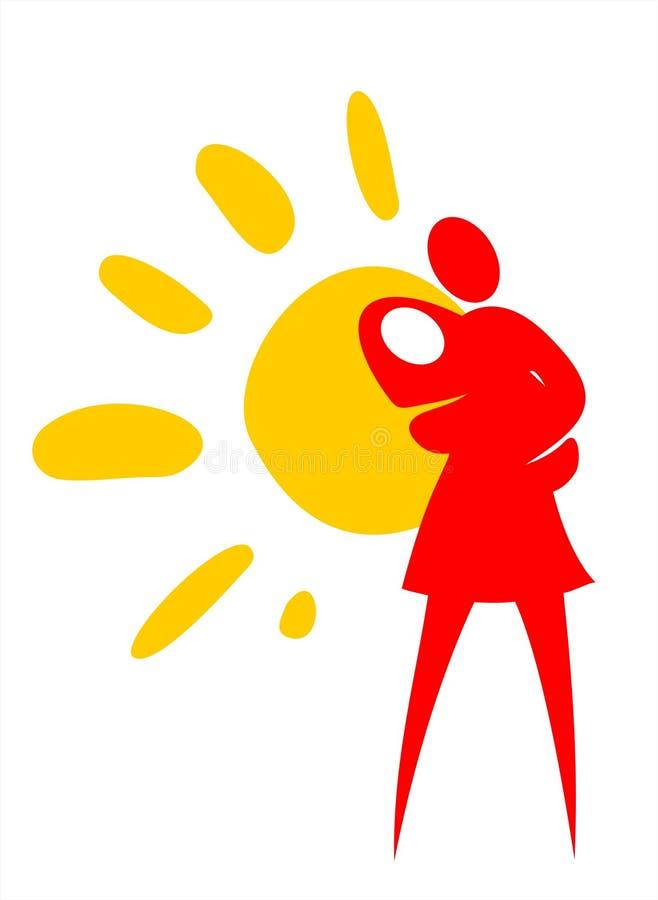 Het symbool van het moederschap stock illustratie