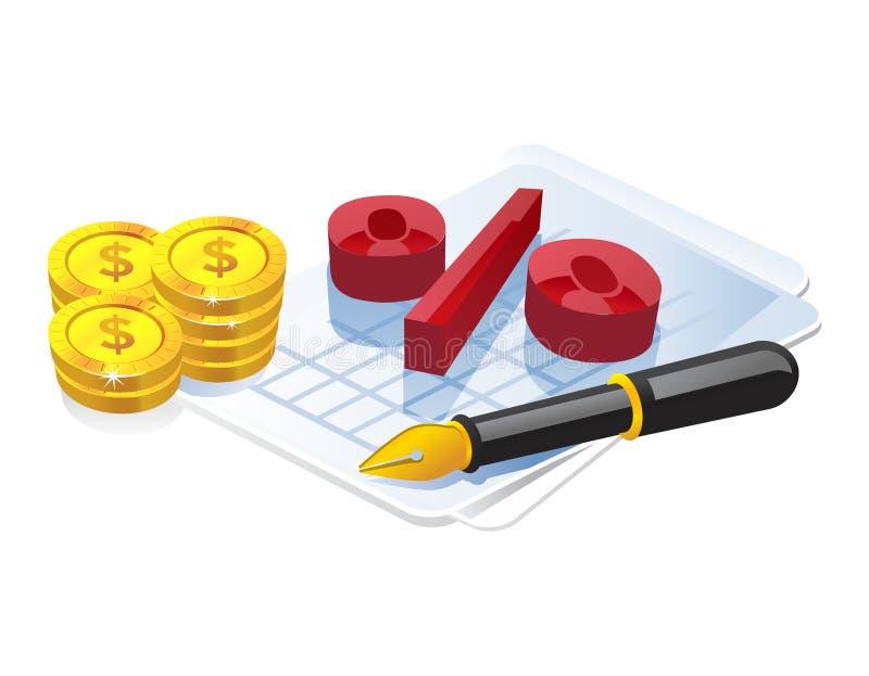 Het symbool van het percentage vector illustratie