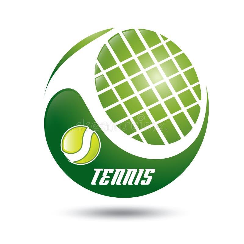 Het symbool van het tennis vector illustratie