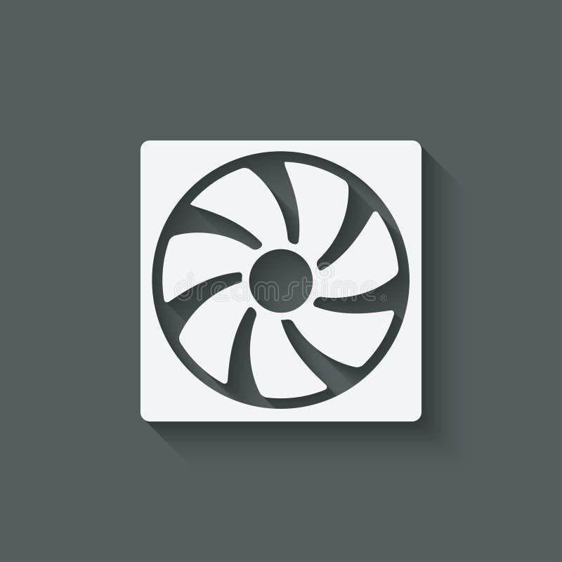 Het symbool van het ventilatorontwerp vector illustratie