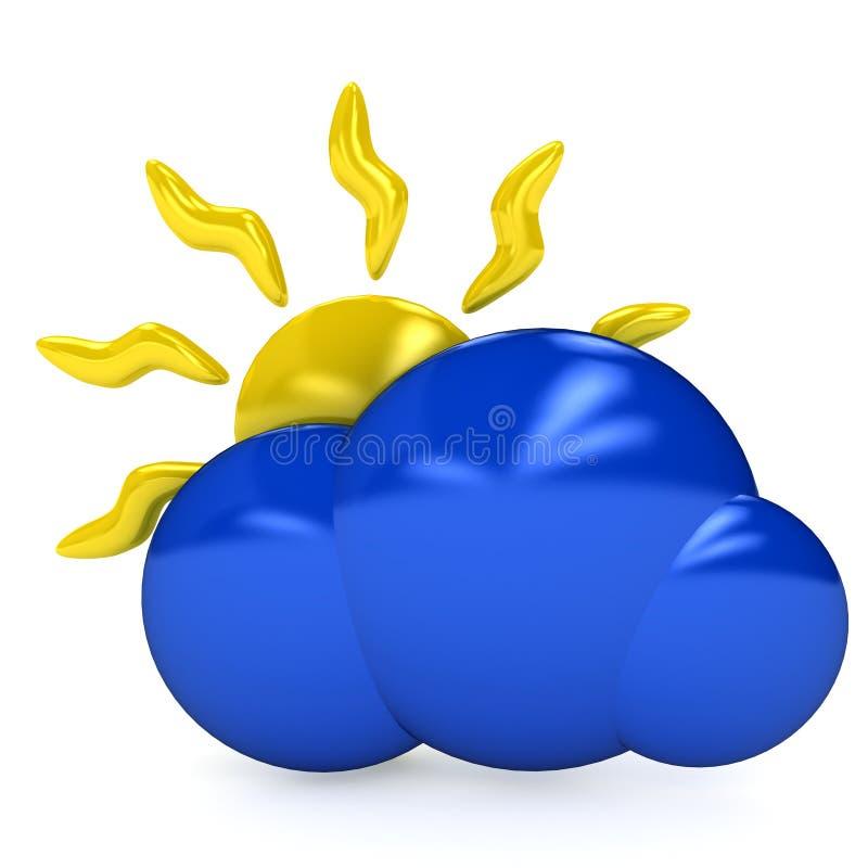 Het symbool van het weer over witte achtergrond vector illustratie