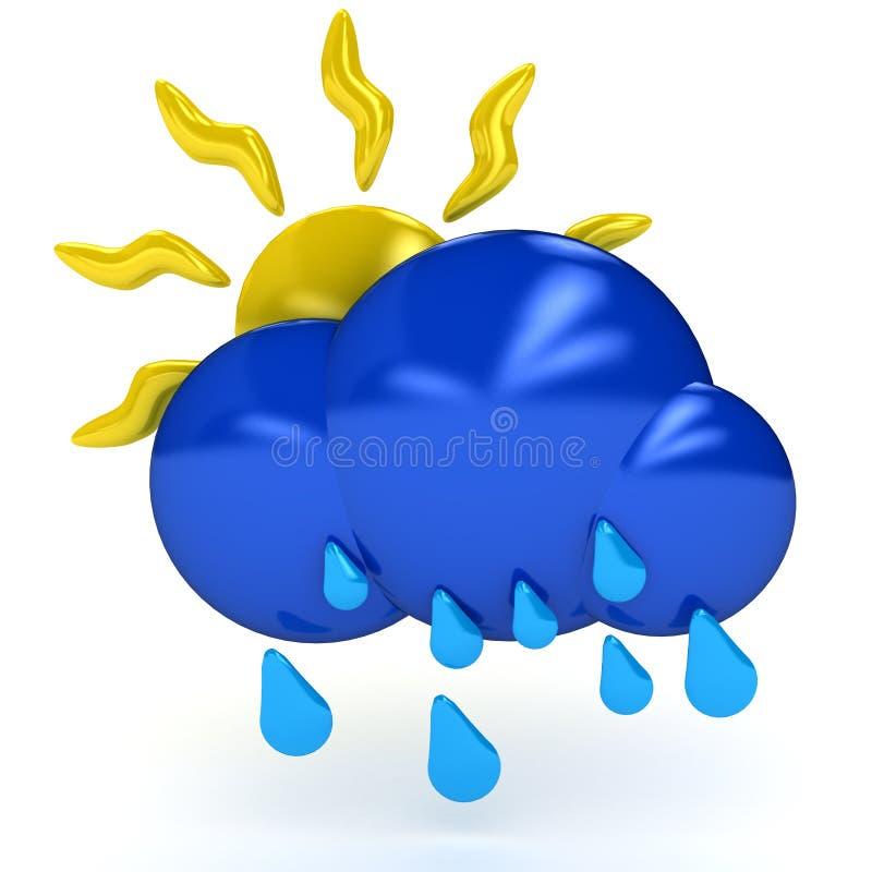 Het symbool van het weer over witte achtergrond stock illustratie
