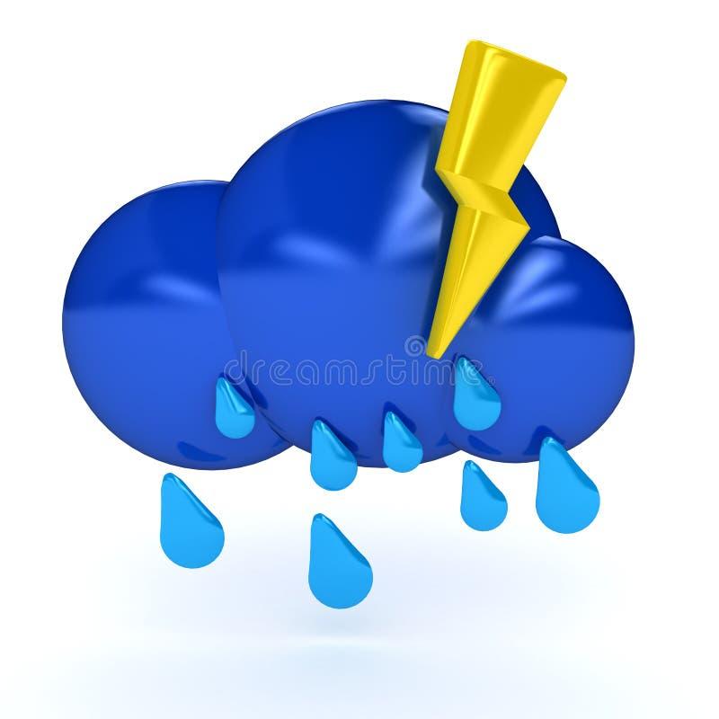 Het symbool van het weer over witte achtergrond royalty-vrije illustratie