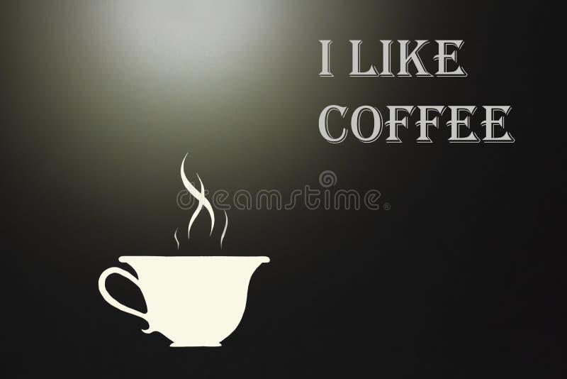 Het symbool van hete koffiethee voor het uithangbord van de de koffiebar van het restaurant met de inschrijving royalty-vrije stock afbeeldingen