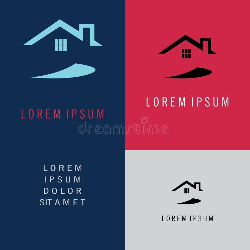 Het symbool van het huisembleem vector illustratie