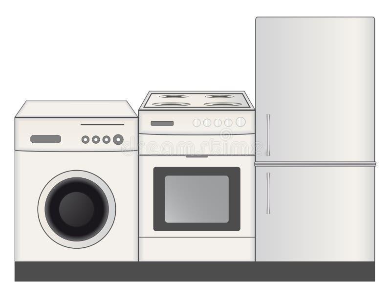 Het symbool van huistoestellen voor ijzerhandel stock illustratie