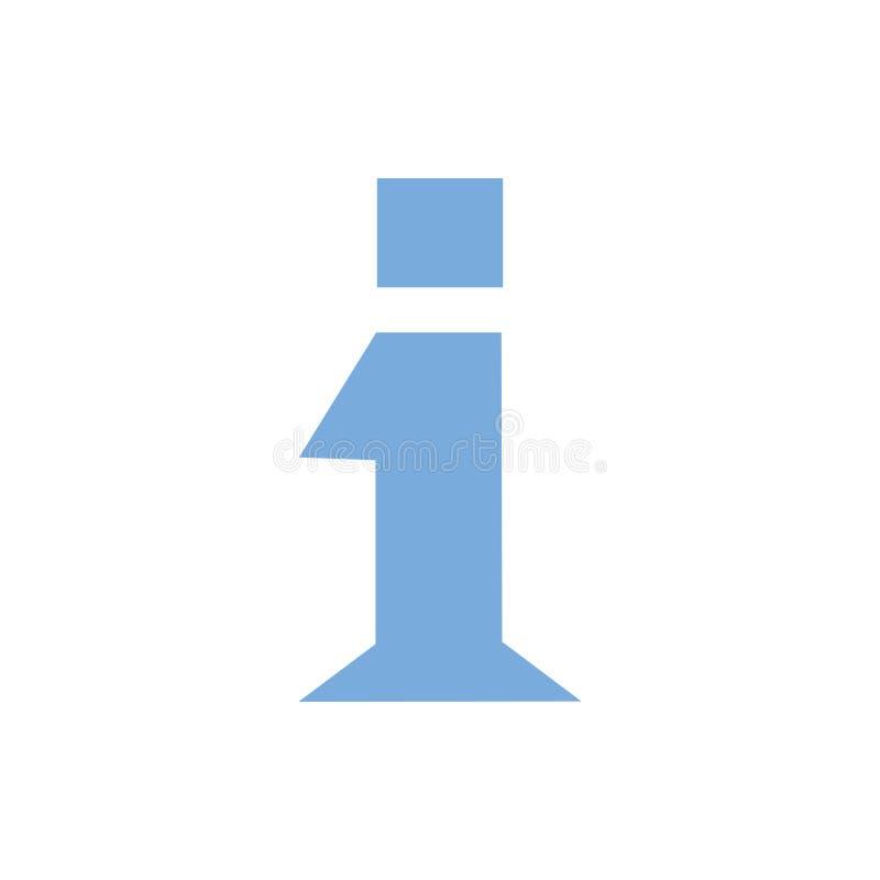 Het symbool van het informatieteken, geïsoleerd informatiepictogram Helpdesksymbool of FAQ-conceptenteken De vaak gevraagde infor stock illustratie