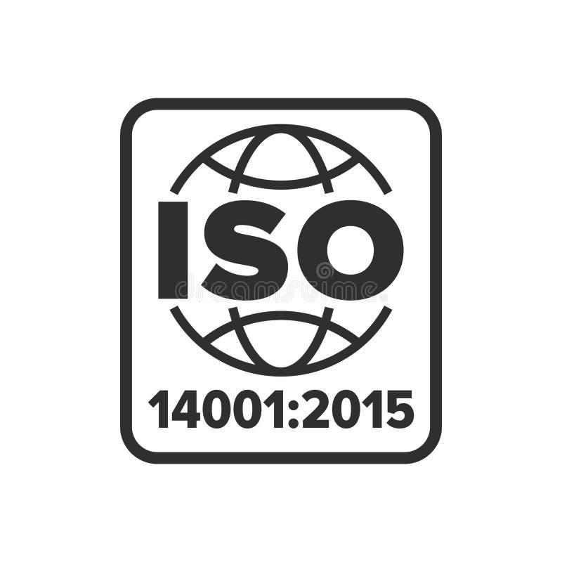 Het symbool van het International Organization for Standardization14001:2015 royalty-vrije illustratie