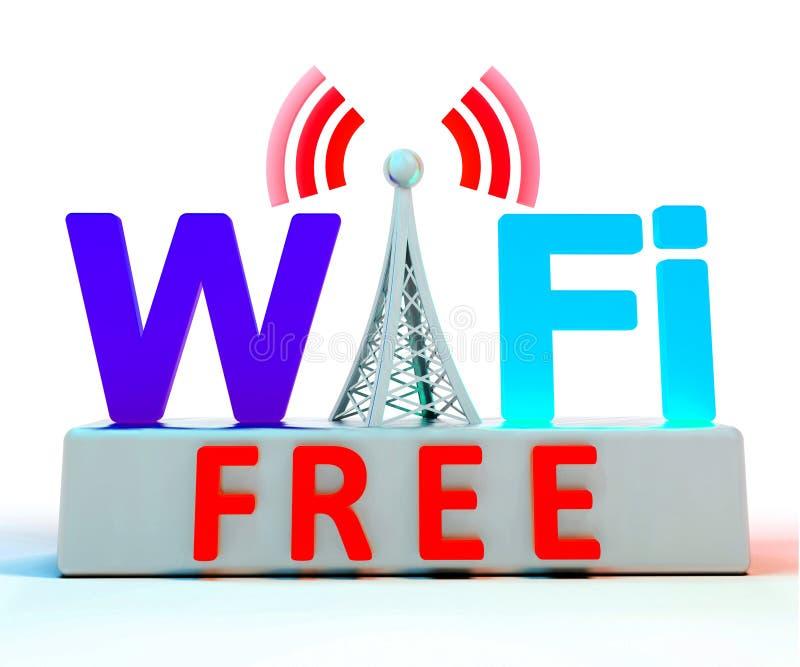 Het Symbool van Internet van Wifi toont Dekking of Aansluting vector illustratie