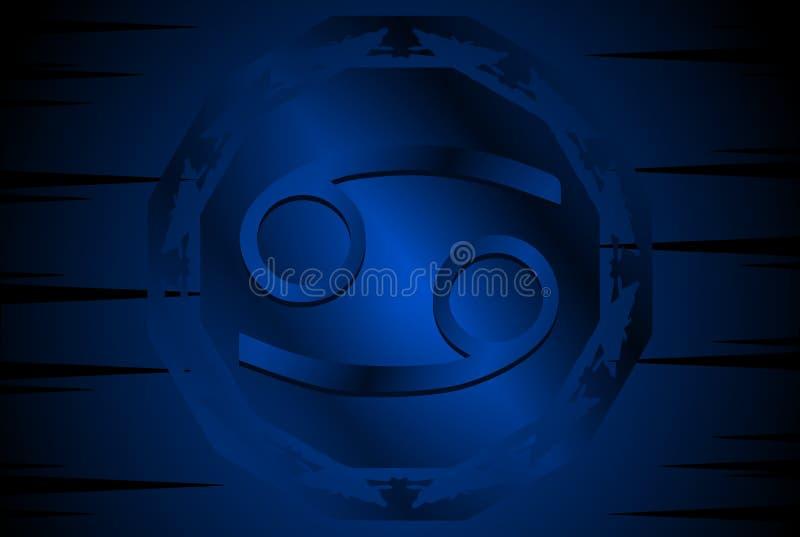 Het symbool van leeuwkanker zingt op achtergrond vector illustratie