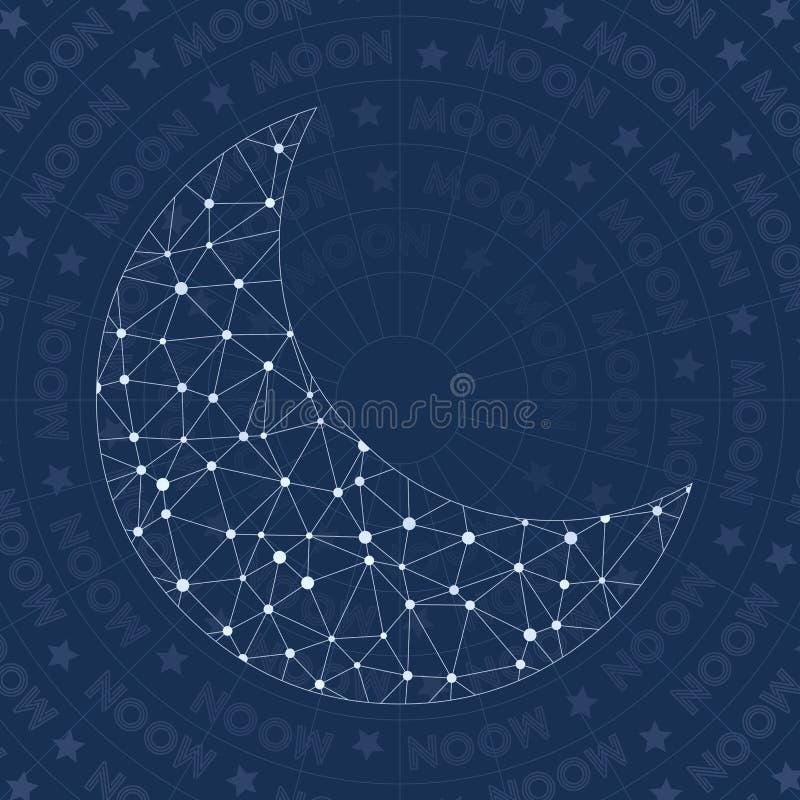 Het symbool van het maan inv netwerk vector illustratie