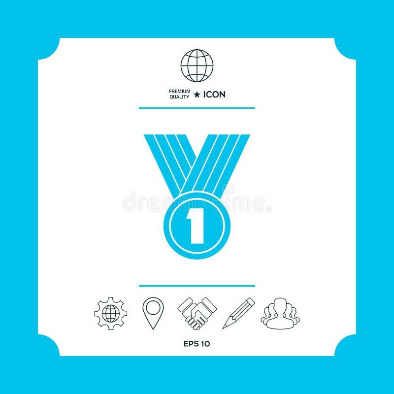 Het Symbool van het medaillepictogram royalty-vrije illustratie