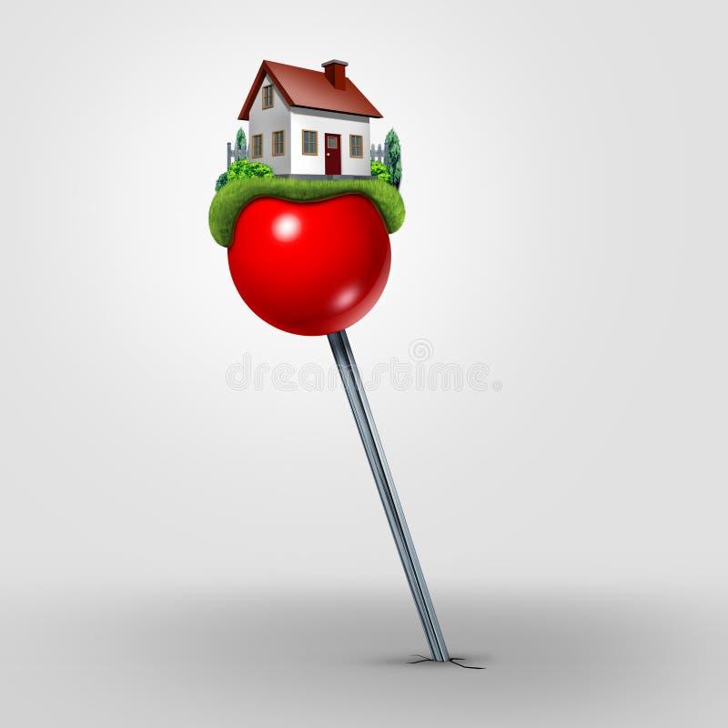 Het Symbool van Real Estate van de huisverhuizing vector illustratie