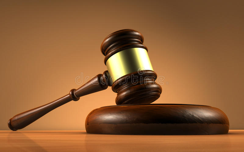 Het Symbool van rechterslaw and justice stock afbeelding