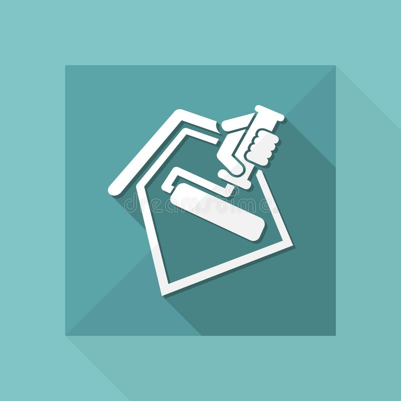 Het symbool van het schildersbroodje vector illustratie