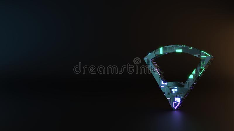 het symbool van het science fictionmetaal van verbindingspictogram geeft terug royalty-vrije stock afbeelding