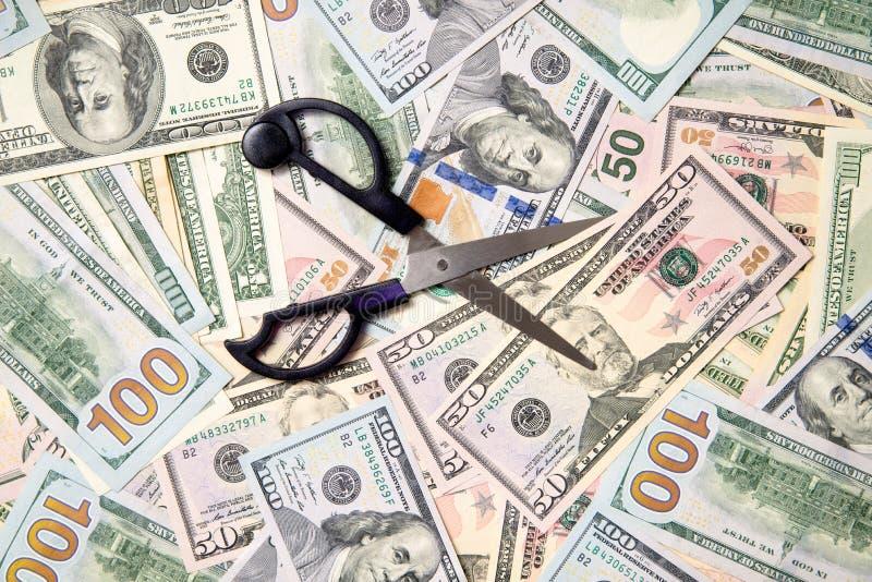 Het symbool van sekwestreert van de begroting stock afbeelding