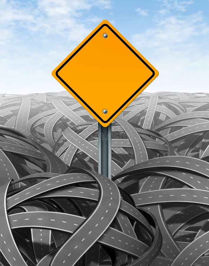 Het symbool van uitdagingen met lege verkeersteken vector illustratie