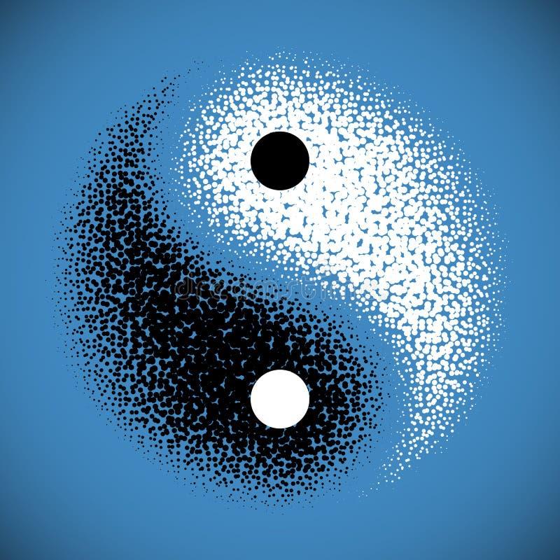 Het symbool van Yang van Yin stock illustratie