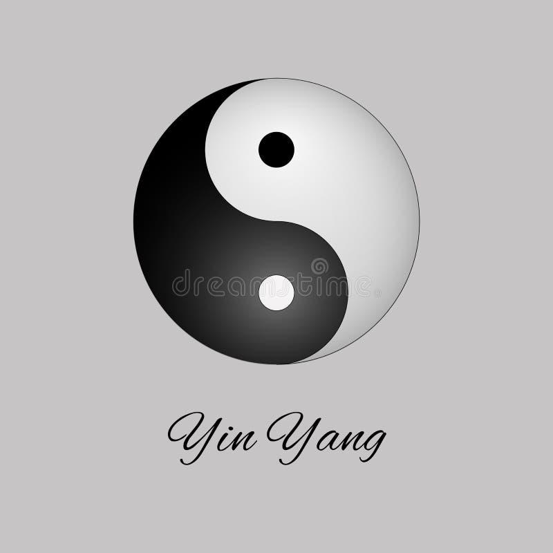 Het Symbool van Yang van Yin Vector illustratie Yoga, meditatie, reiki royalty-vrije illustratie