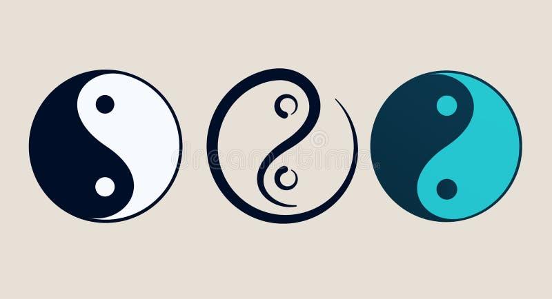 Het symbool van Ying yang van harmonie en saldo royalty-vrije illustratie