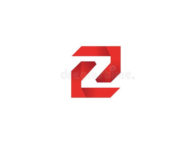 Het symboolalfabet Z van de labyrinttechnologie voor embleemontwerp stock illustratie