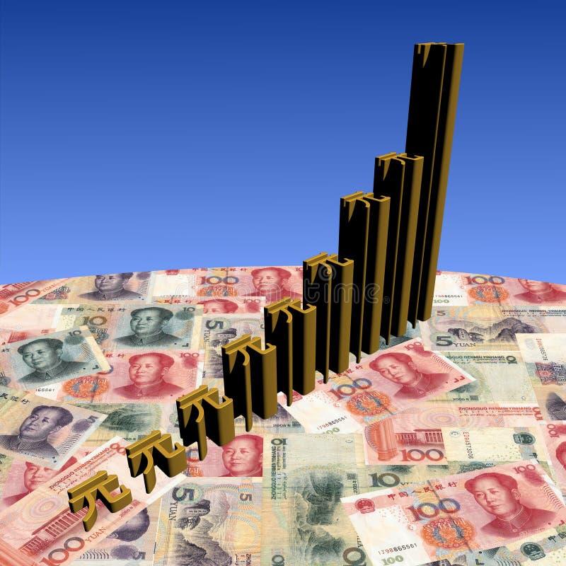 Het symboolgrafiek van Yuan op munt vector illustratie