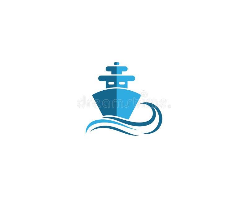 het symboolillustratie van het cruiseschip vector illustratie