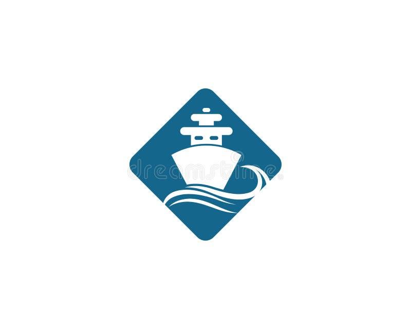 het symboolillustratie van het cruiseschip stock illustratie