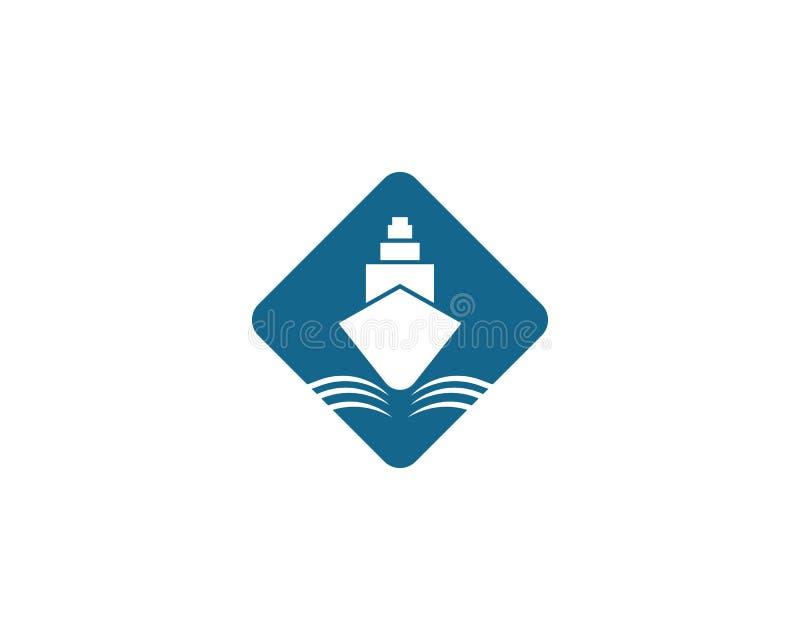 het symboolillustratie van het cruiseschip royalty-vrije illustratie