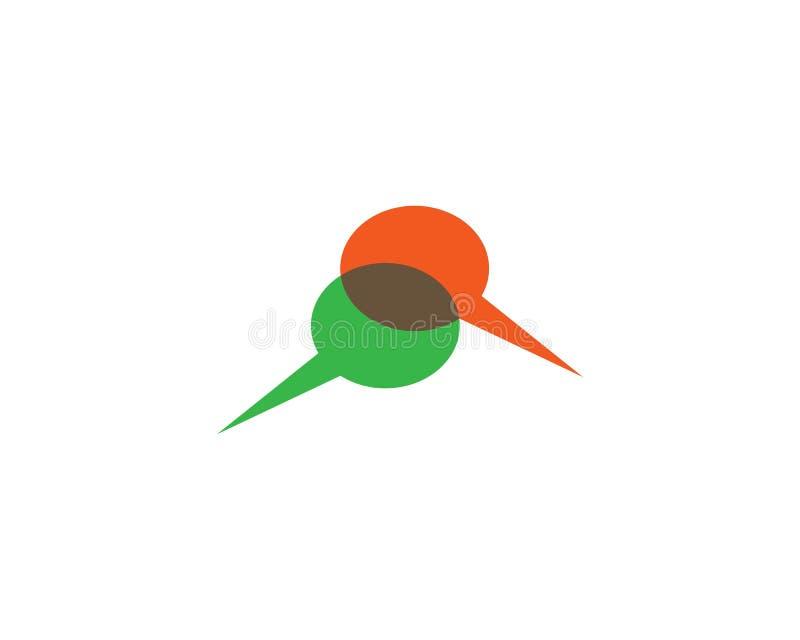 Het symboolillustratie van de toespraakbel vector illustratie
