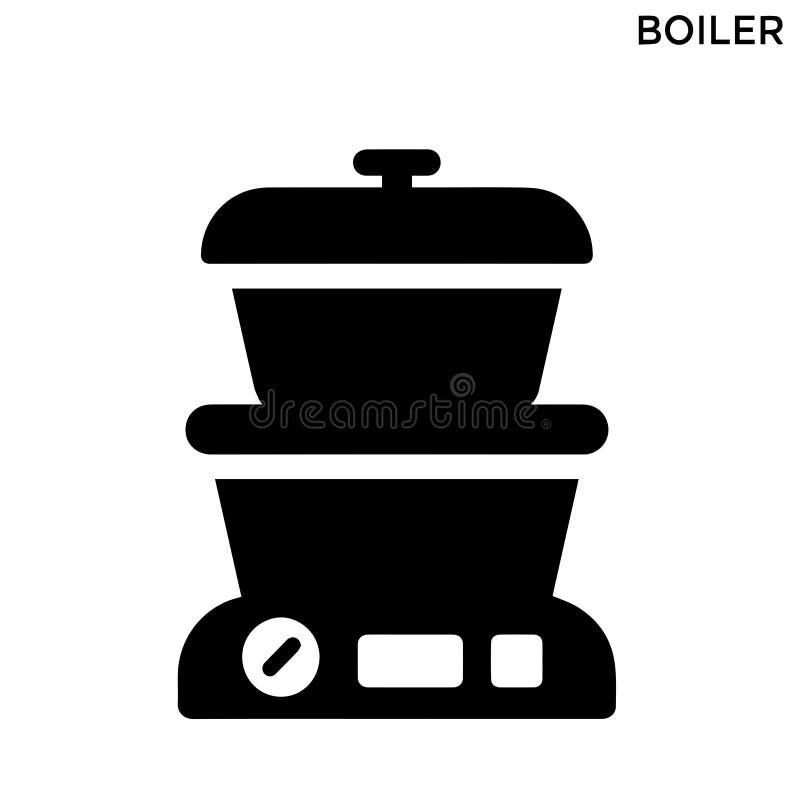 Het symboolontwerp van het boiler editable pictogram royalty-vrije illustratie