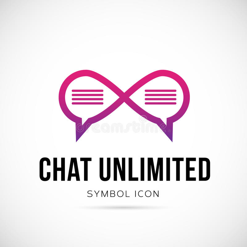 Het Symboolpictogram of Embleem van het praatje Onbeperkt Vectorconcept stock illustratie