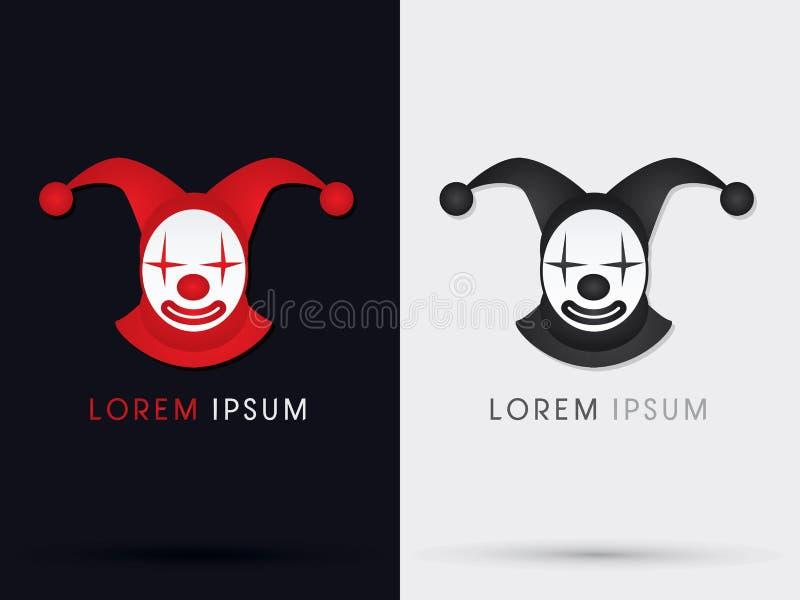 Het symboolpictogram van de clownjoker vector illustratie