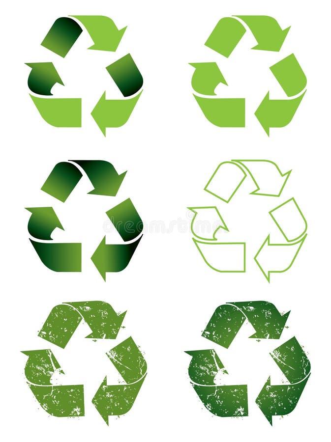 Het symboolreeks van het recycling stock illustratie