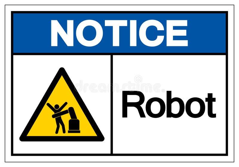 Het het Symboolteken van de berichtrobot, Vectorillustratie, isoleert op Wit Etiket Als achtergrond EPS10 vector illustratie