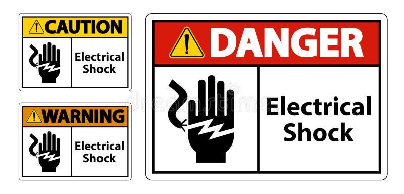 Het het Symboolteken van de elektroschokelektrocutie, Vectorillustratie, isoleert op Wit Etiket Als achtergrond EPS10 royalty-vrije illustratie