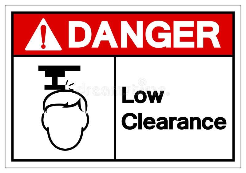 Het Symboolteken van de gevaars isoleert het Lage Ontruiming, Vectorillustratie, op Wit Etiket Als achtergrond EPS10 vector illustratie