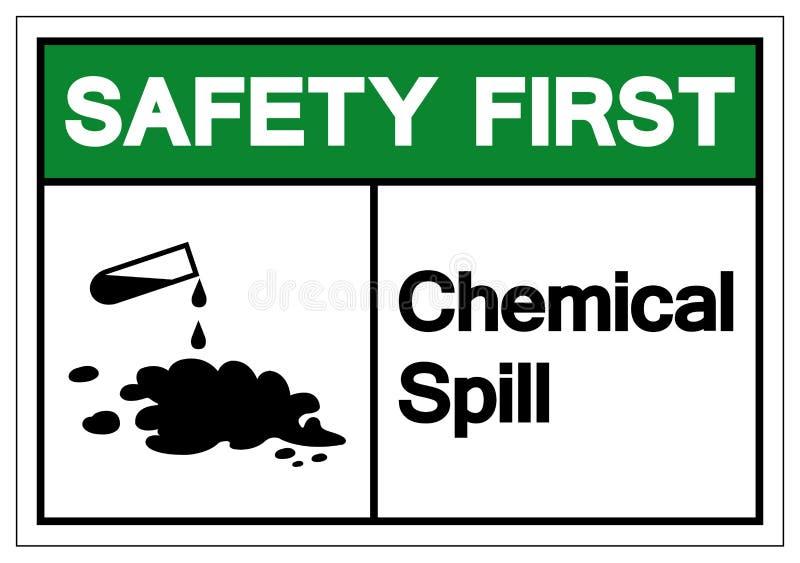 Het Symboolteken van de veiligheids isoleert het Eerste Chemische Morserij, Vectorillustratie, op Wit Etiket Als achtergrond EPS1 vector illustratie