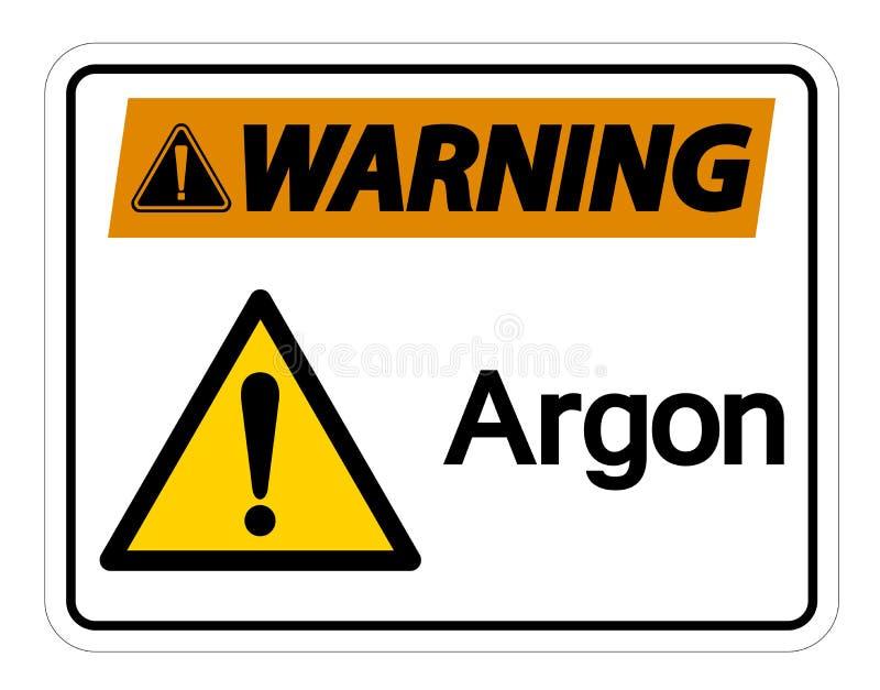 Het het Symboolteken van het waarschuwingsargon isoleert op Witte Achtergrond, Vectorillustratie stock illustratie