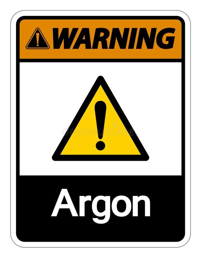 Het het Symboolteken van het waarschuwingsargon isoleert op Witte Achtergrond, Vectorillustratie vector illustratie