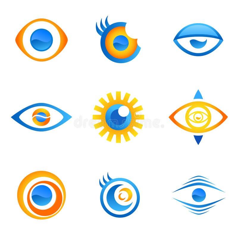 Het symboolvector van het oog royalty-vrije illustratie