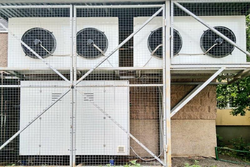 Het systeem koelijskasten van de evaporatoreenheid stock foto