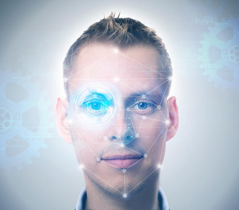 Het systeem van de gezichtserkenning royalty-vrije stock foto
