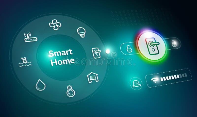 Het systeem van de huisautomatisering stock illustratie