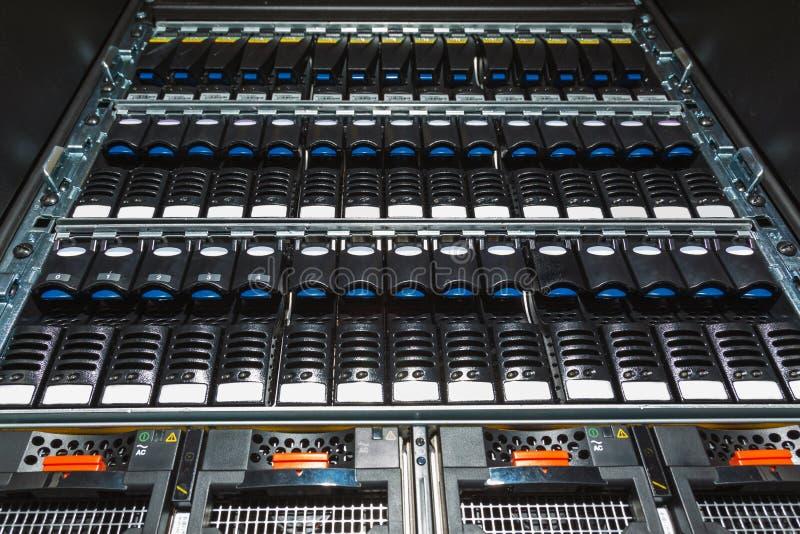 Het systeem van de opslag in het gegevenscentrum royalty-vrije stock fotografie