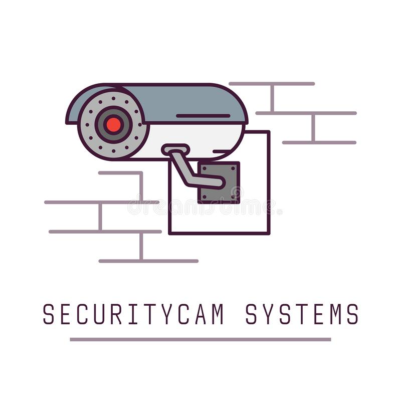 Het systeem van de veiligheidsnok stock illustratie