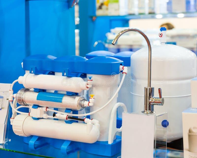 Het systeem van de waterfilter of osmose, water-reiniging royalty-vrije stock foto