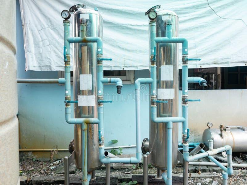 Het systeem van de waterpomp, Elektrische motoren het drijven van huis royalty-vrije stock afbeeldingen